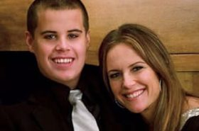 Jett Travolta and his mother