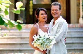 Janie Liszewski and her late husband during their wedding